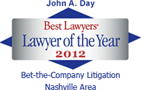 Best Lawyers badge - Lawyer of the year 2012