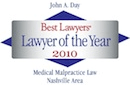 Best Lawyers badge - Lawyer of the year 2010